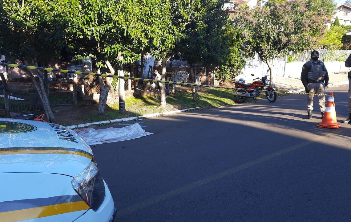 Crime ocorreu na rua Jacó Weiss em Campo Bom  Foto: Deivis Luz/Jornal Repercussão