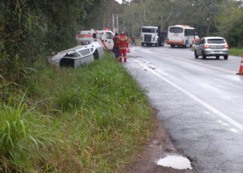 Acidente não deixou feridos  Foto: Divulgação