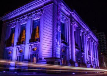 Para promover o Junho Lilás, a fachada do Palácio Piratini recebeu iluminação especial - Foto: Gustavo Mansur/Palácio Piratini