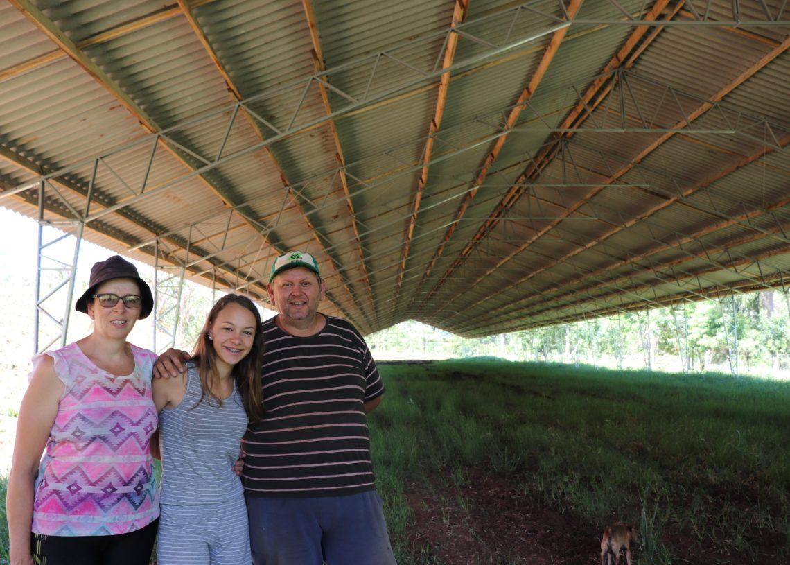Família Stelzer se beneficiou de linha de crédito. Foto: Melissa Costa