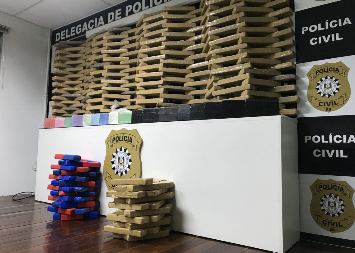 Droga apreendida em Sapiranga. Foto: Cássios Schaab/Jornal Repercussão