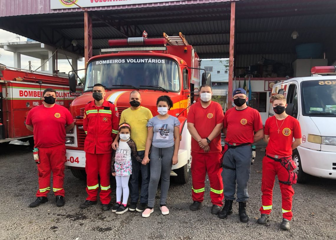 Foto: bombeiros de Nova Hartz