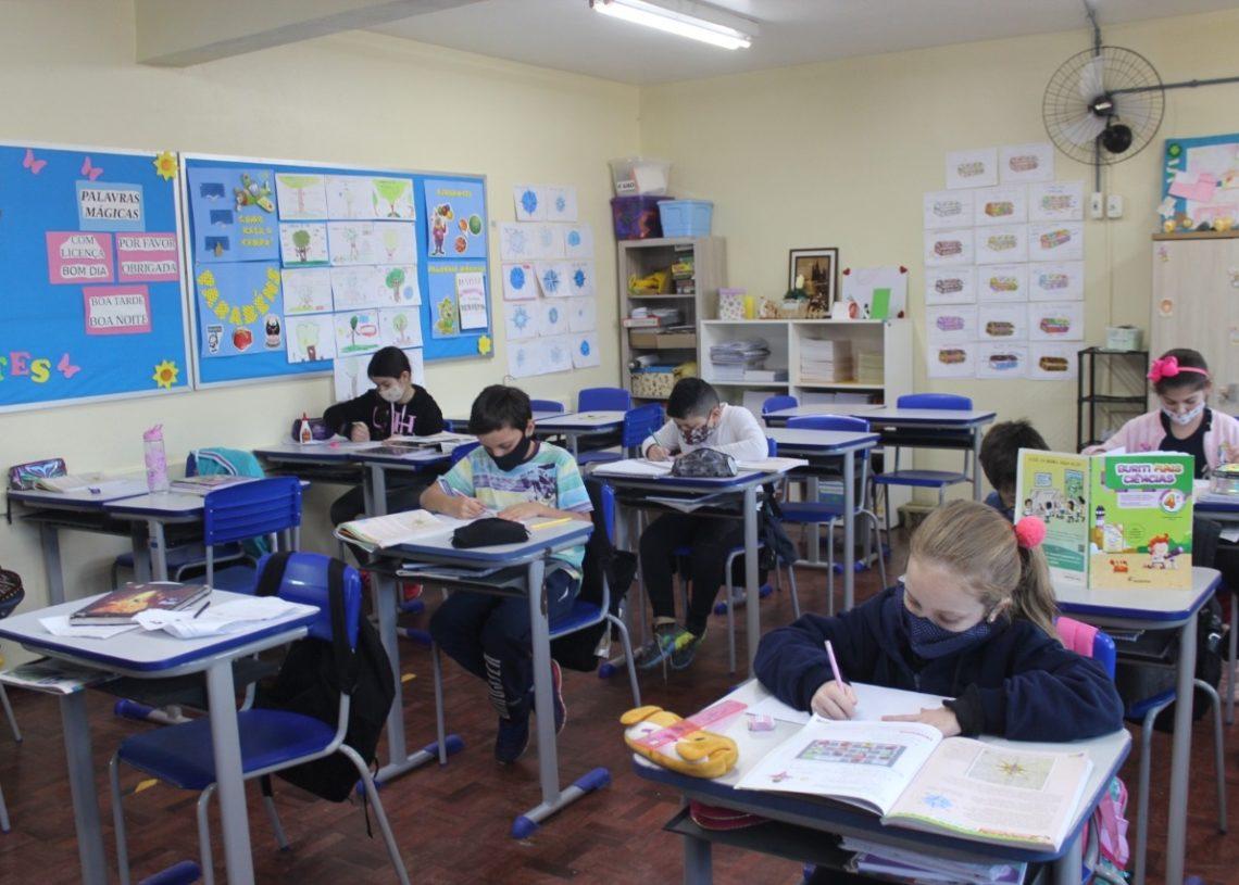 Sapiranga foi um dos primeiros municípios da região a retomar ensino totalmente presencial (Fotos:  Claudia Silva)