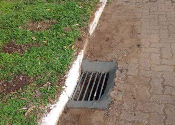 Prefeitura de Dois Irmãos está repondo os bueiros furtados (Foto: PMDI)