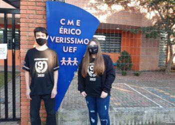 Iago e Rafaela estão a frente do projeto com o auxílio da professora Vanderlize
