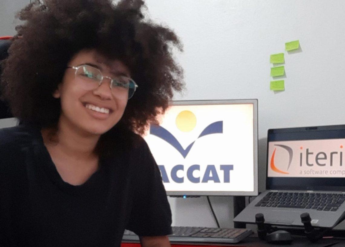 Moradora de Campo Bom, Michelle Brito  é aluna da Faccat  Foto: Divulgação
