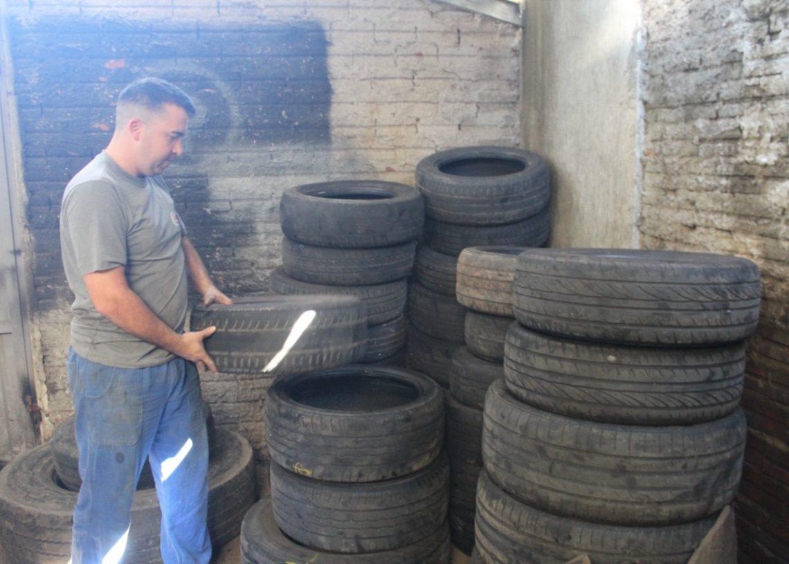 Lehnen Pneus respeita legislação e é criteriosa com o destino de pneus e óleos lubrificantes Foto: Melissa Costa